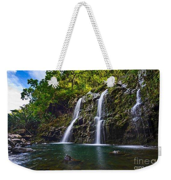 Upper Waikani Falls - The Stunningly Beautiful Three Bears Found In Maui. Weekender Tote Bag
