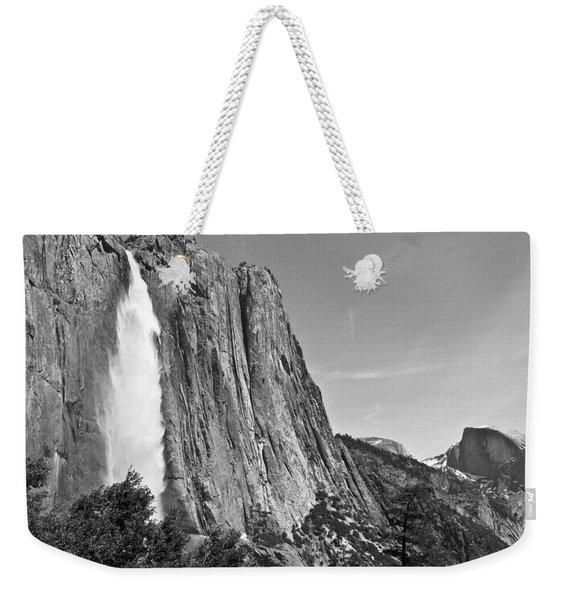 Upper Yosemite Fall With Half Dome Weekender Tote Bag