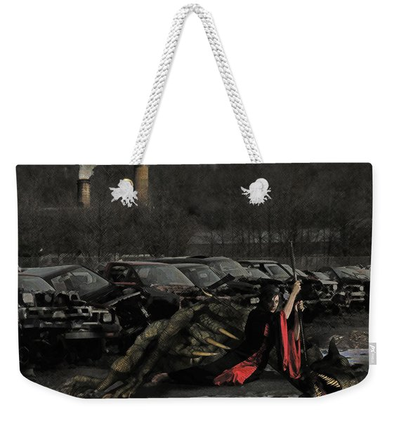 Urban Dragon Slayer Weekender Tote Bag