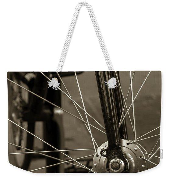 Urban Spokes In Sepia Weekender Tote Bag