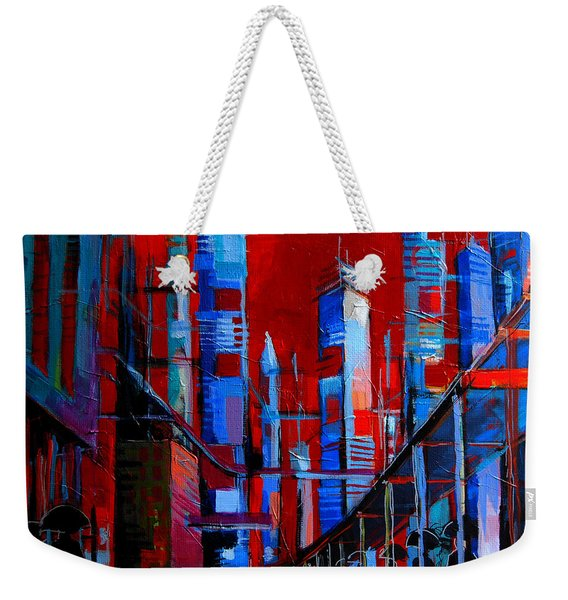 Urban Vision - City Of The Future Weekender Tote Bag