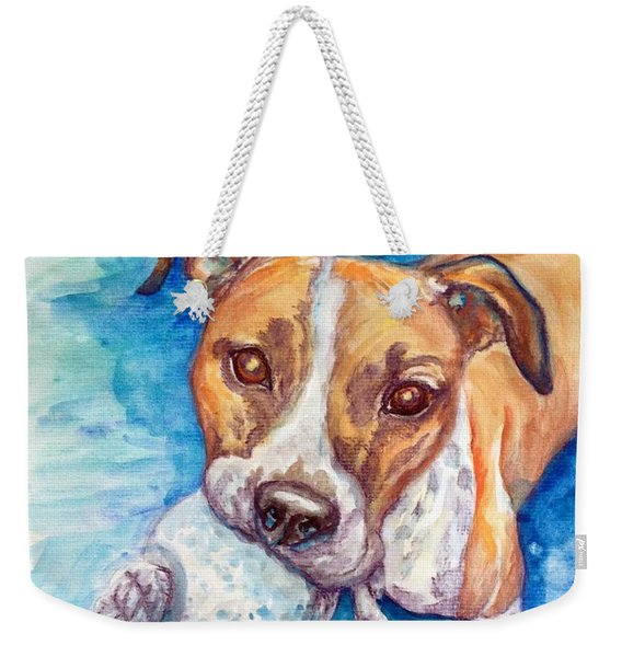 Weekender Tote Bag featuring the painting Ursula by Ashley Kujan