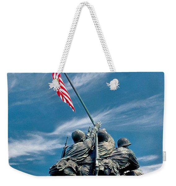 Us Marine Corps War Memorial Weekender Tote Bag