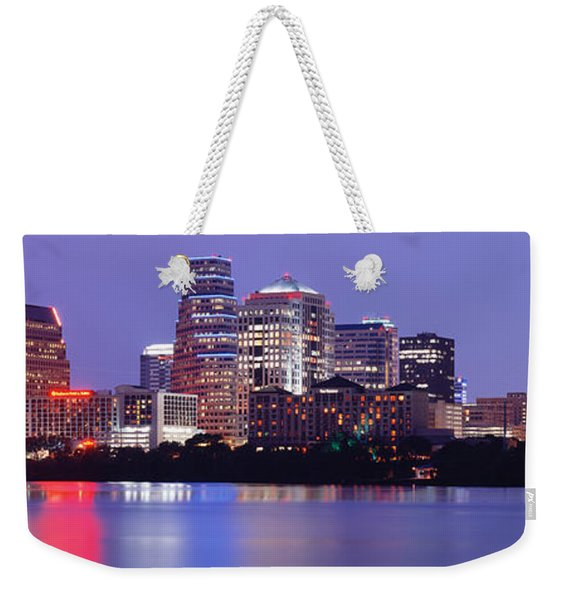 Us, Texas, Austin, Skyline, Night Weekender Tote Bag