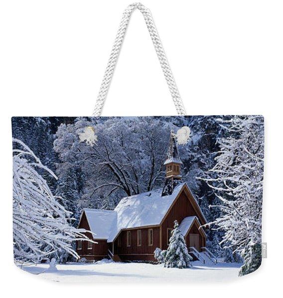 Usa, California, Yosemite Park, Chapel Weekender Tote Bag
