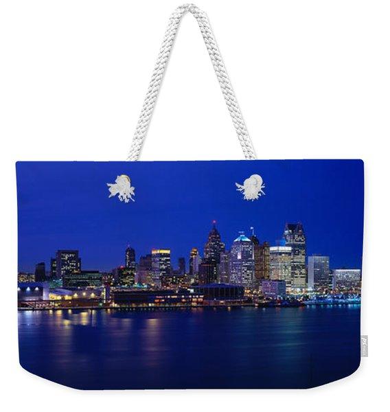 Usa, Michigan, Detroit, Night Weekender Tote Bag