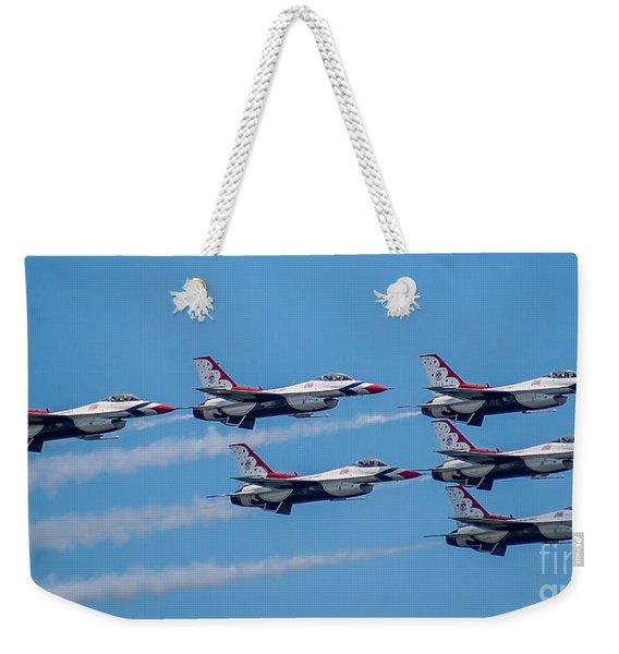 U.s.a.f. Thunderbirds Weekender Tote Bag