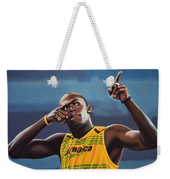 Usain Bolt Painting Weekender Tote Bag