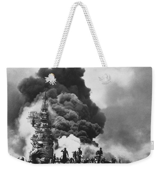 Uss Bunker Hill Kamikaze Attack  Weekender Tote Bag
