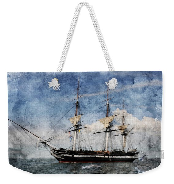 Uss Constitution On Canvas - Featured In 'manufactured Objects' Group Weekender Tote Bag