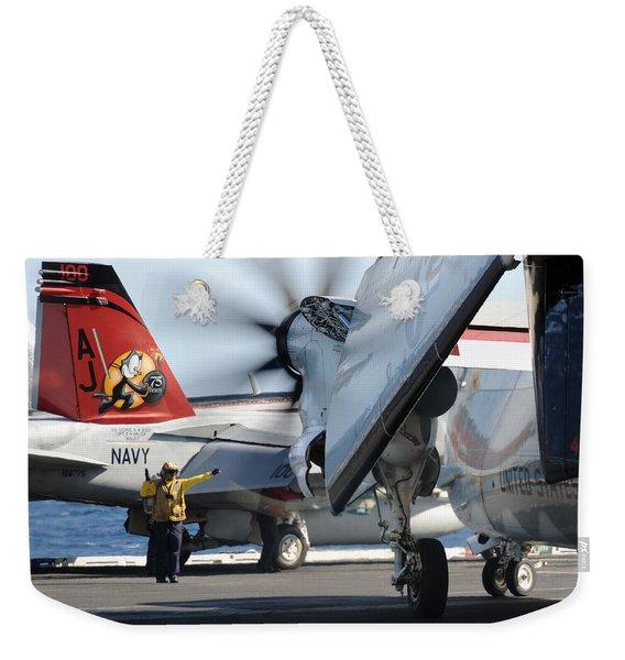 Uss George H.w. Bush Weekender Tote Bag