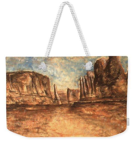 Utah Red Rocks - Landscape Art Painting Weekender Tote Bag