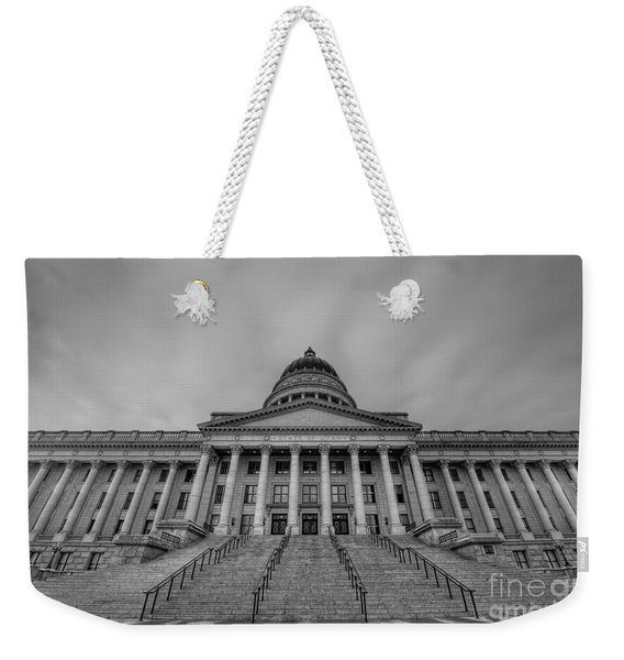 Utah State Capitol Building Bw Weekender Tote Bag