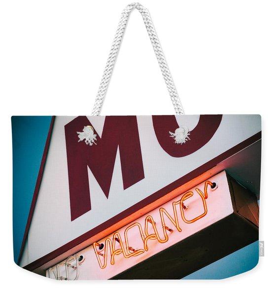 Vacancy Weekender Tote Bag