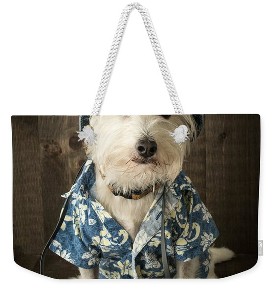 Vacation Dog Weekender Tote Bag