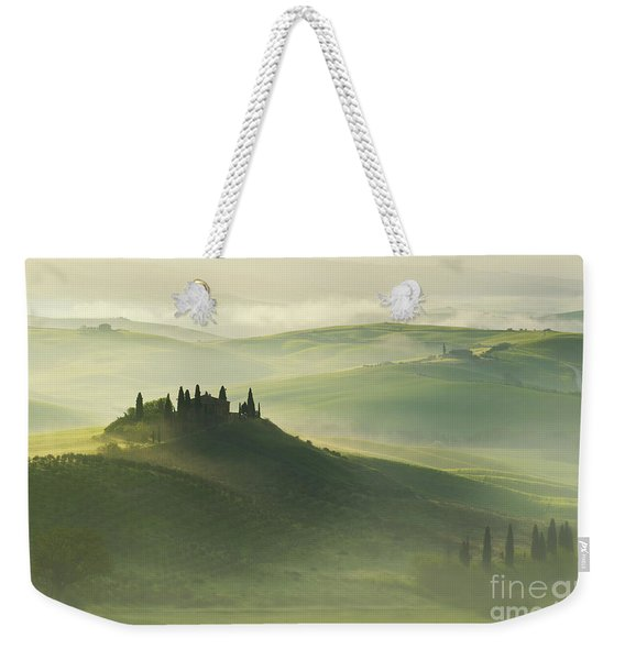 Weekender Tote Bag featuring the photograph Val D'orcia by Jaroslaw Blaminsky