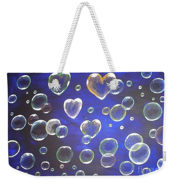 Valentine Bubbles Weekender Tote Bag