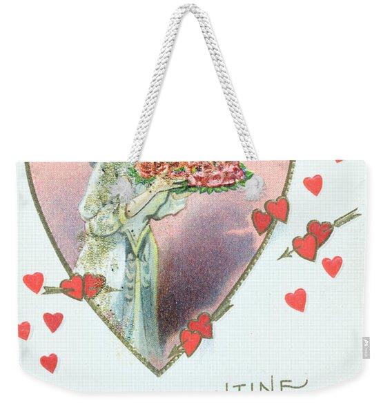 Valentine Card Weekender Tote Bag