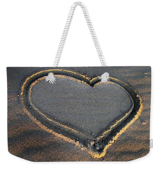 Valentine's Day - Sand Heart Weekender Tote Bag