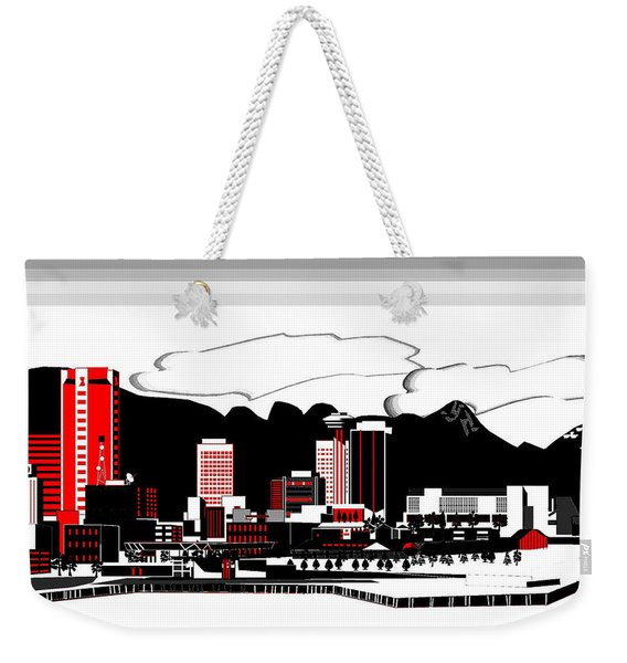 Vancouver Graphic Illustration Weekender Tote Bag