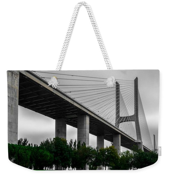 Vasco Da Gama Bridge II Weekender Tote Bag
