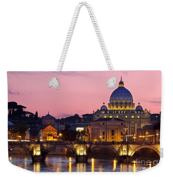 Weekender Tote Bag featuring the photograph Vatican Twilight by Brian Jannsen