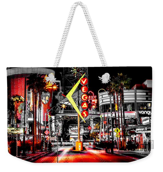 Vegas Nights Weekender Tote Bag