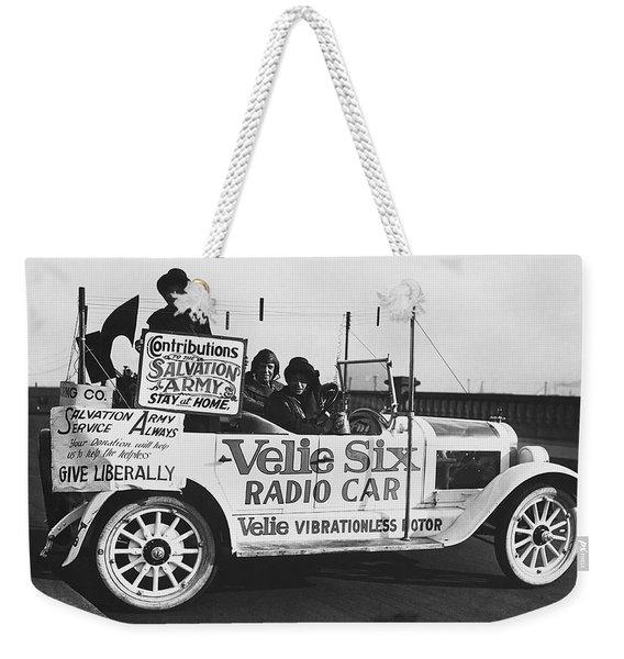Velie Six Radio Car Weekender Tote Bag