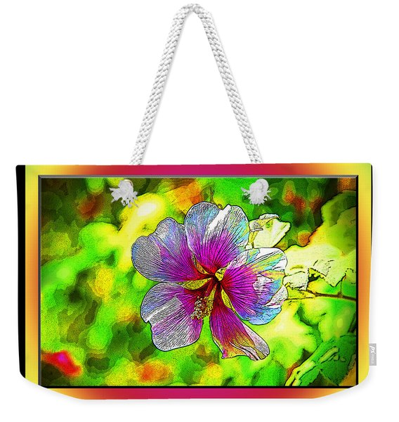 Venice Flower - Framed Weekender Tote Bag