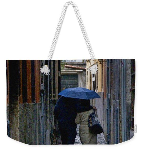 Venice In The Rain Weekender Tote Bag