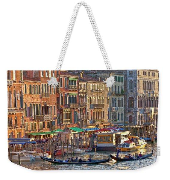 Venice Palazzi At Sundown Weekender Tote Bag