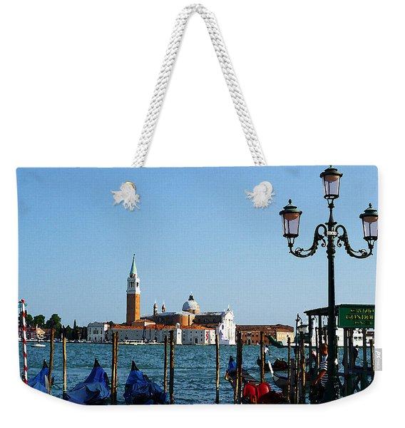 Venice View On Basilica Di San Giorgio Maggiore Weekender Tote Bag