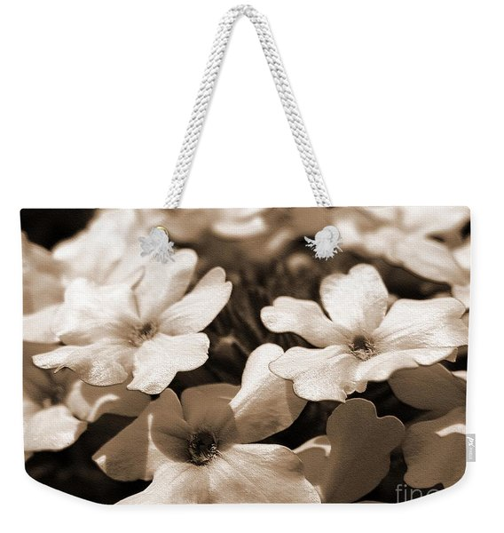 Verbena Named White Hail Weekender Tote Bag