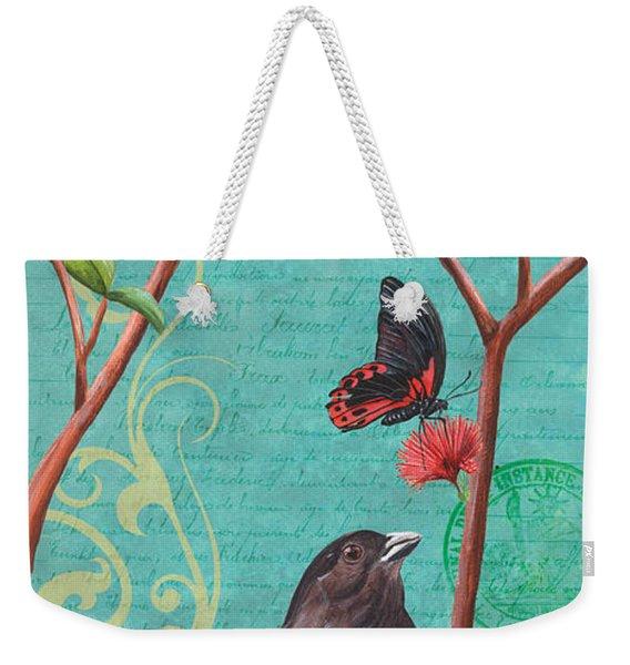 Verdigris Songbirds 2 Weekender Tote Bag