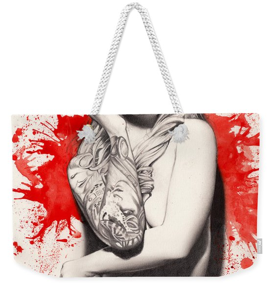 Vermillion Weekender Tote Bag