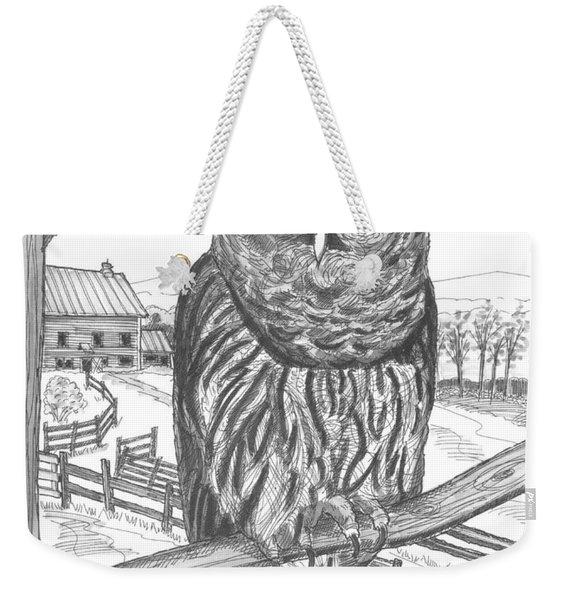 Vermont Barred Owl Weekender Tote Bag