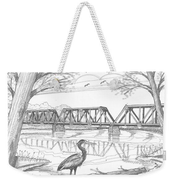 Vermont Railroad On Connecticut River Weekender Tote Bag