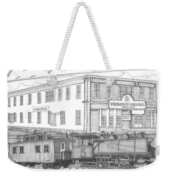 Vermont Salvage And Train Weekender Tote Bag