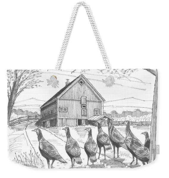 Vermont Wild Turkeys Weekender Tote Bag