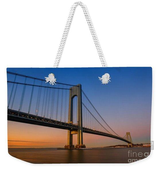Verrazano Bridge Sunrise  Weekender Tote Bag