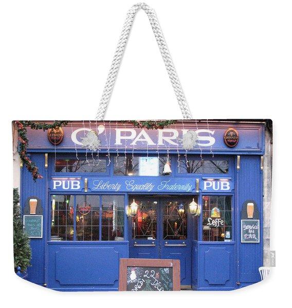 Versailles France Pubs - Versailles France Irish Pub - O' Paris - Versailles Pubs And Cafe Shops Weekender Tote Bag