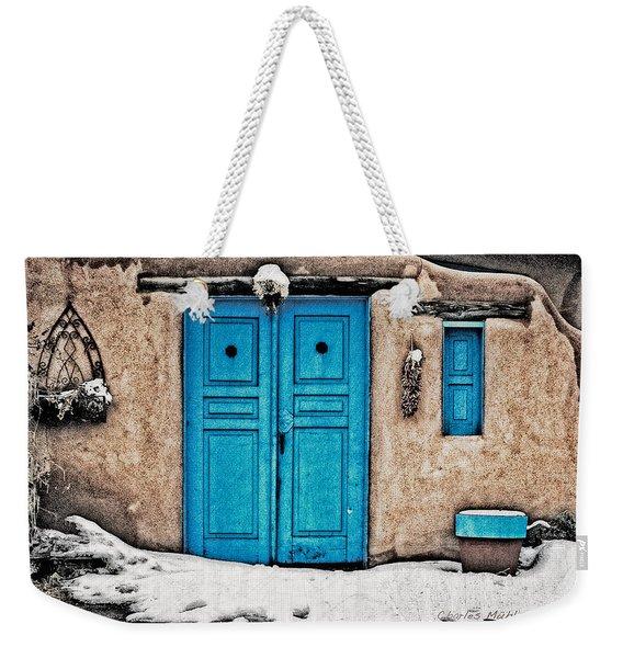 Very Blue Door Weekender Tote Bag