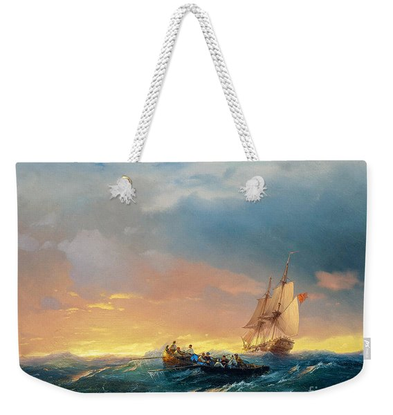 Storm On The Sea Weekender Tote Bag