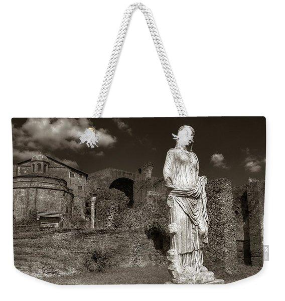Vestal Virgin Courtyard Statue Weekender Tote Bag