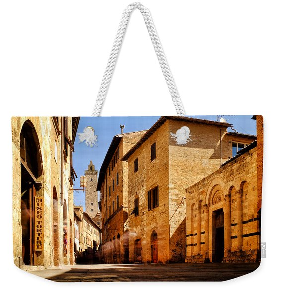 Via San Giovanni Weekender Tote Bag