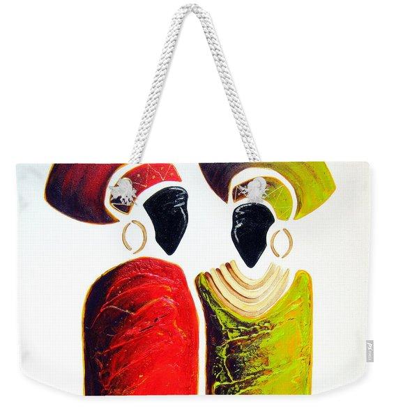 Vibrant Zulu Ladies - Original Artwork Weekender Tote Bag