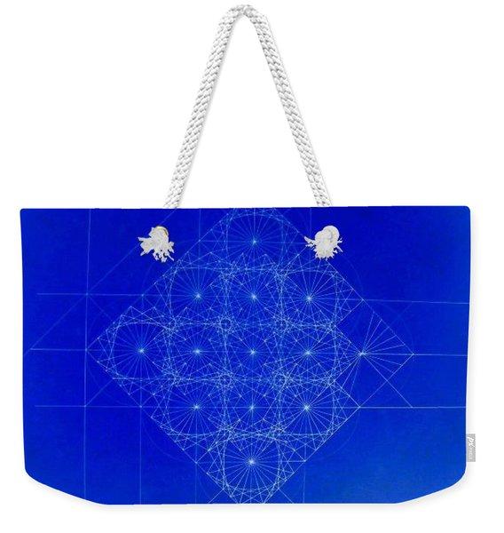 Vibrating Space Time Weekender Tote Bag