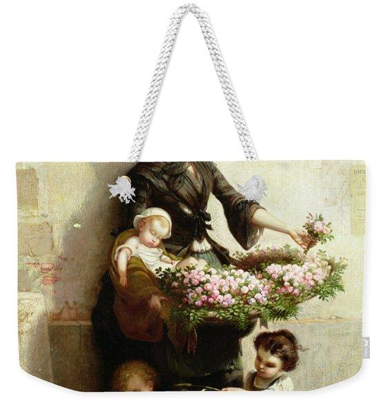 Victorian Flower Seller Weekender Tote Bag
