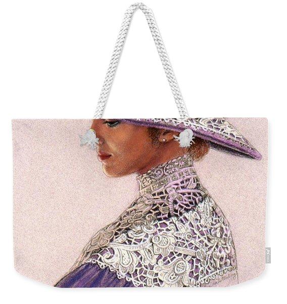 Victorian Lady In Lavender Lace Weekender Tote Bag