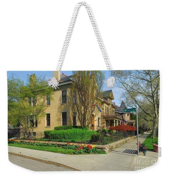 D47l-15 Victorian Village Photo Weekender Tote Bag